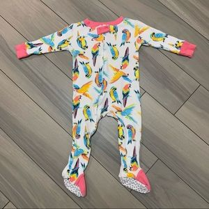 Rosie Pope Baby Parrots Footie Pajama 18m
